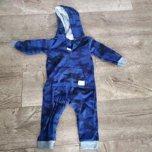 2/$15 Carter's Fleece Camouflage jumpsuit 18 m